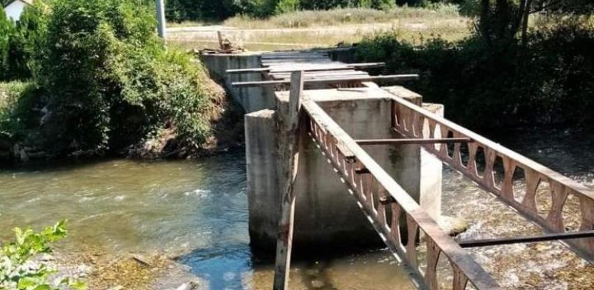 Počela rekonstrukcija mosta u Mjesnoj zajednici Vrbanja kod Bugojna