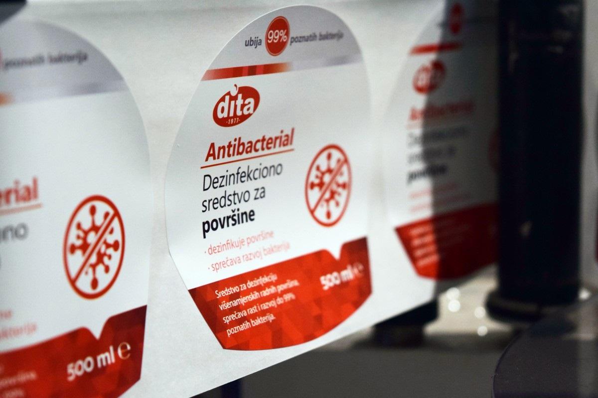 Dita proizvela i isporučila više od 20 tona sredstava za dezinfekciju