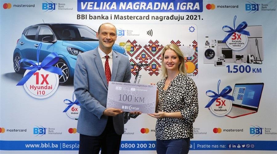 Uručene nagrade 1. kruga nagradne igre 'BBI banka i Mastercard nagrađuju 2021'