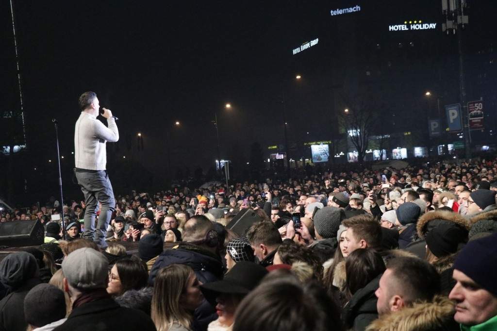 Sarajevo uz vatromet i hitove Željka Joksimovića ušlo u 2020. godinu