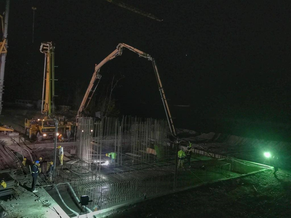 Izgradnja mosta Počitelj: U toku betoniranje temelja za stupove mosta (Foto)