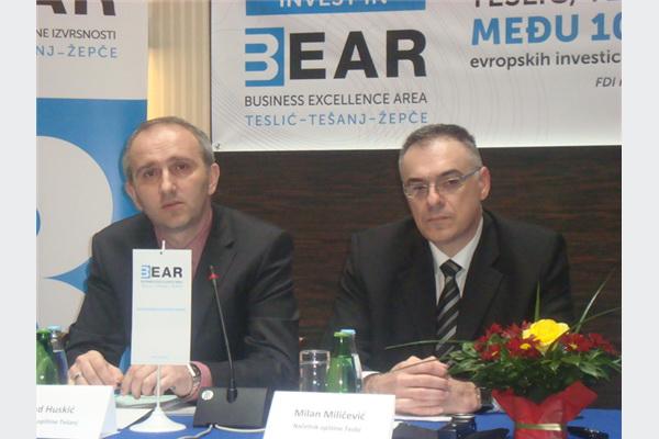 Suad Huskić, načelnik općine Tešanj i Milan Miličević, načelnik  opštine Teslić