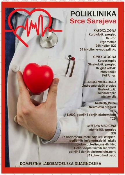 Poliklinika Srce Sarajeva brine o vašem i zdravlju vaših najmilijih