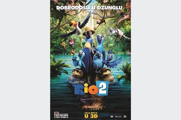 Rio 2 (3D), Sabotaža i Filomena u kino dvoranama Family Centra Ekran
