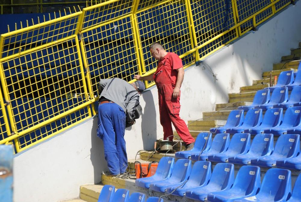 Nastavljaju se radovi na uređenju stadiona Grbavica