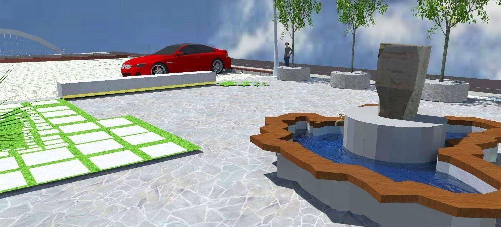 Idejno rješenje uređenja trga ispred zgrade Općine Kakanj
