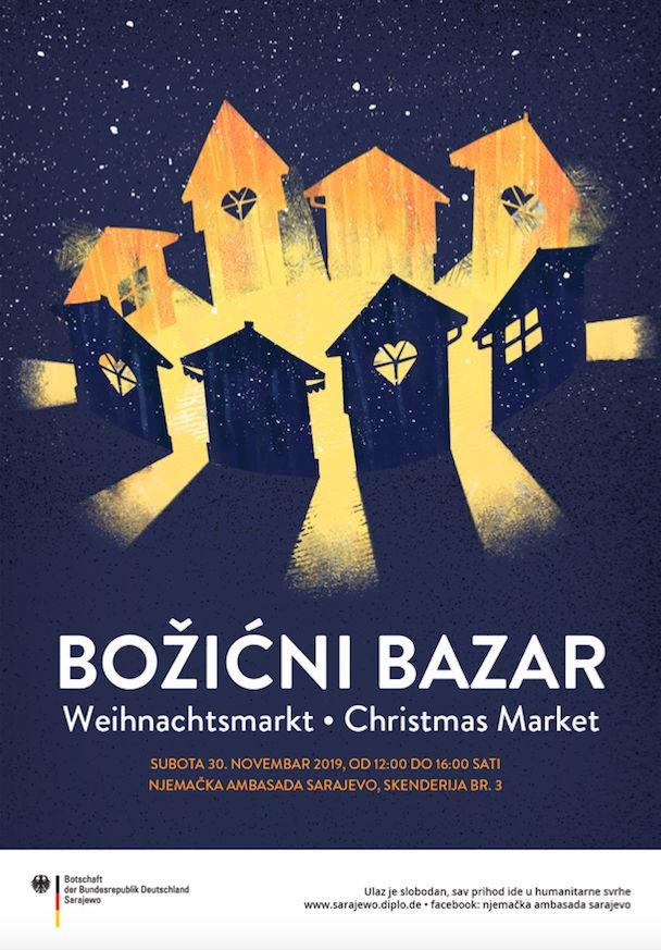 Božićni bazar u subotu, 30. novembra u Njemačkoj ambasadi