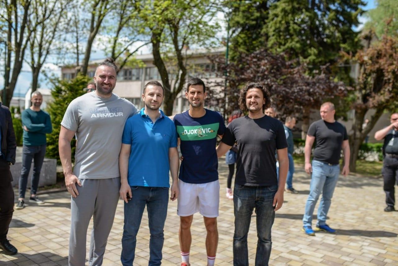 Druženje sa svjetskim prvakom u tenisu i drugim sportistima u Centru Safet Zajko