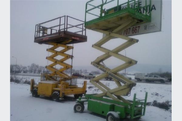 Škaraste dizalice visine od 8-15 m