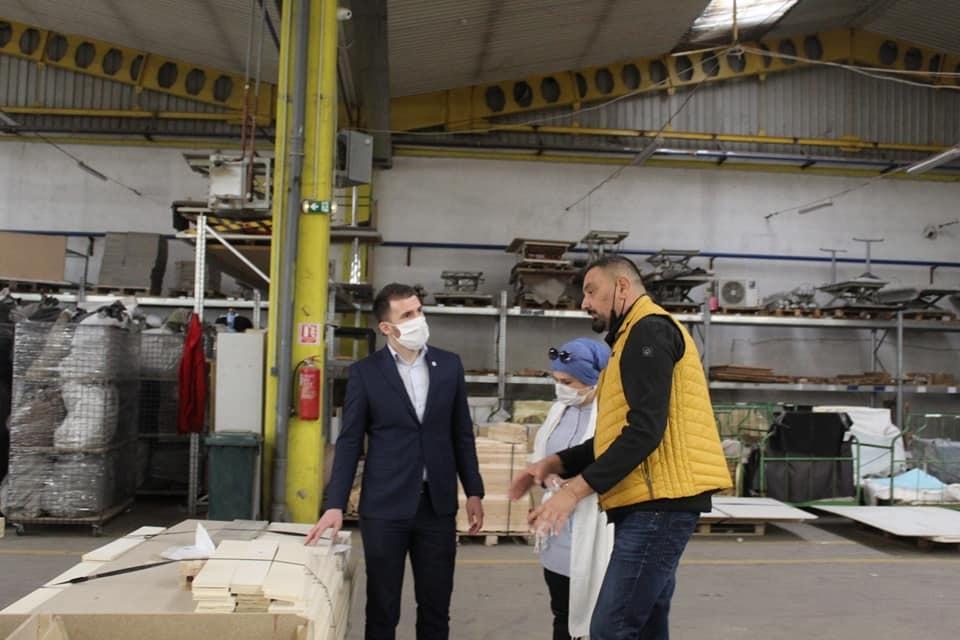 Delić posjetio firmu Alternativa: Šteta od nedavnog požara oko pola miliona KM