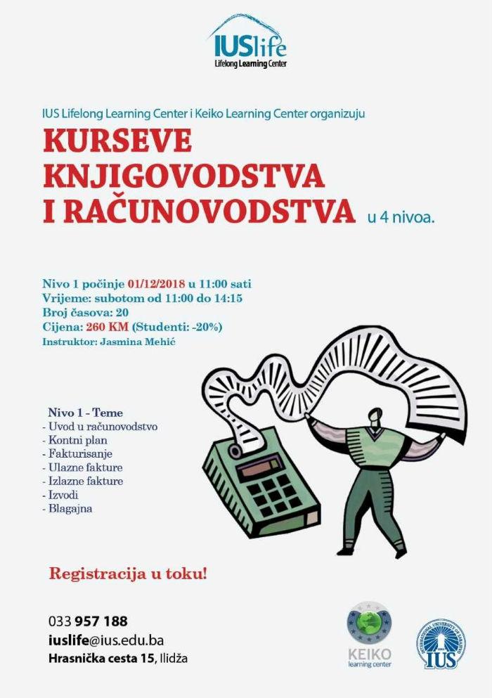 Kursevi knjigovodstva i računovodstva na IUS-u