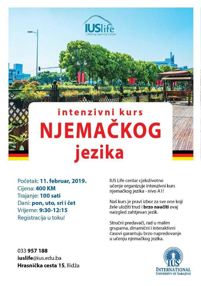 IUS Life centar: Intenzivni kurs njemačkog jezika - nivo A1