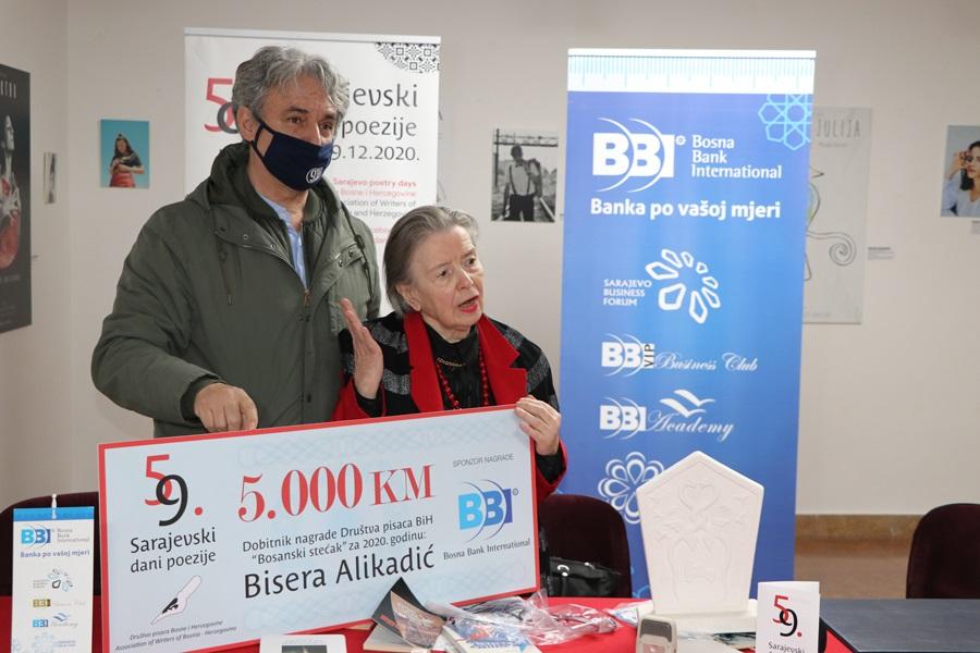 BBI banka sponzor nagrade Sarajevskih dana poezije 'Bosanski stećak'