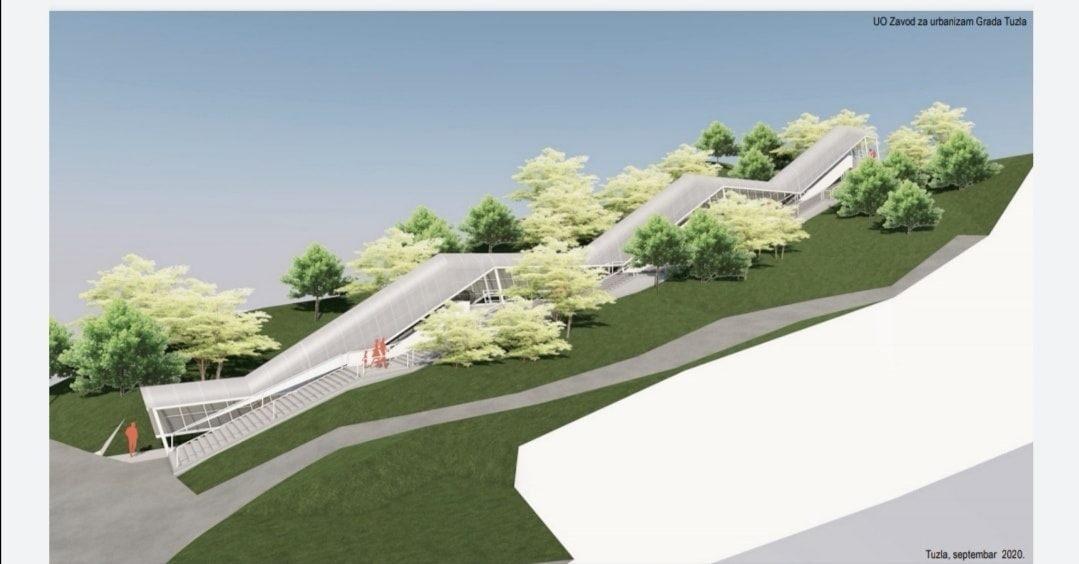 Predstavljen projekat pokretnih stepenica na dvije lokacije u Tuzli