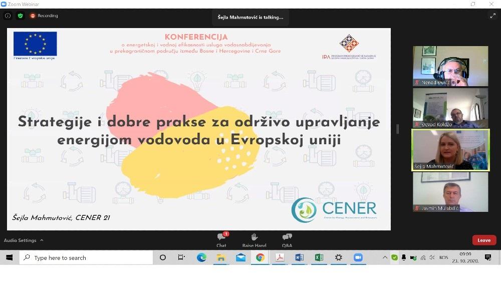 EU podržala povezivanje interesnih strana u sektoru vodosnabdijevanja u BiH i CG