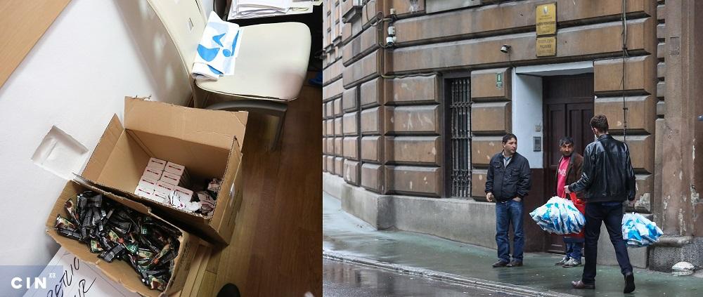 U kancelariji advokata Mehmedbašića spremaju pakete sa cigaretama i kafom koje njegov kolega svakog četvrtka nosi klijentima u sarajevski Centralni zatvor. (Foto: CIN)