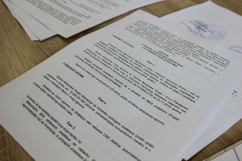 BosanskaKrupa: 80 hiljada KM za postojeće privrednike i samozapošljavanje