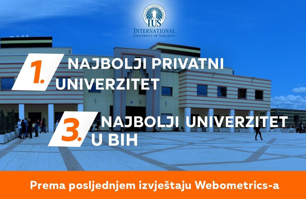 Internacionalni univerzitet u Sarajevu proglašen za najbolji privatni univerzitet u BiH