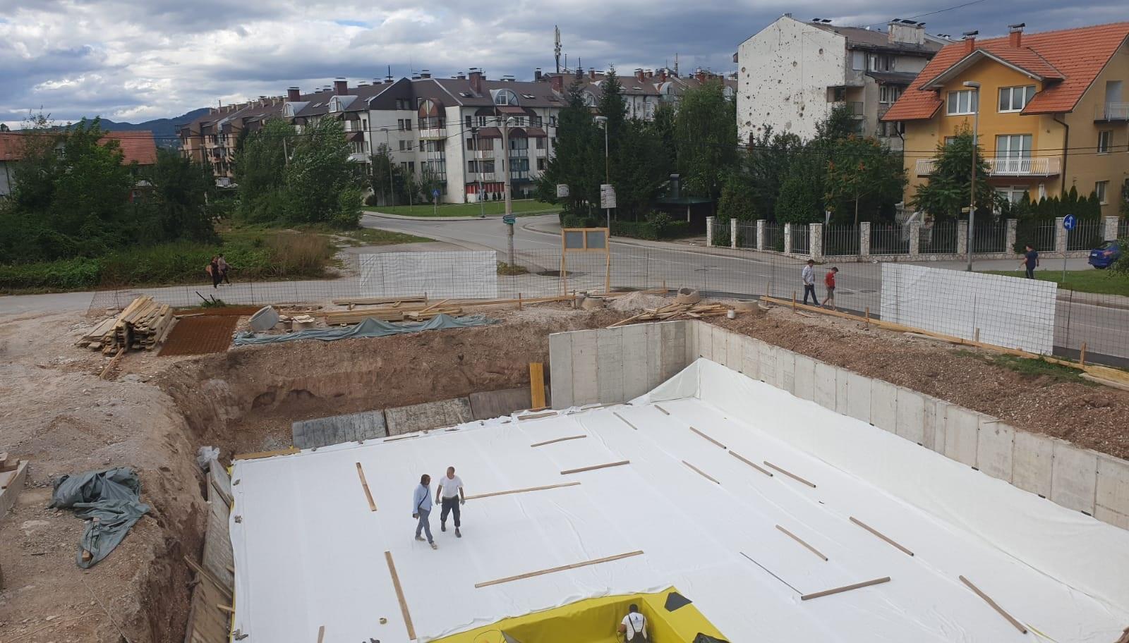 Pogledajte kako izgleda gradnja stambenog objekta Sarajevo Waves 5 (Foto)