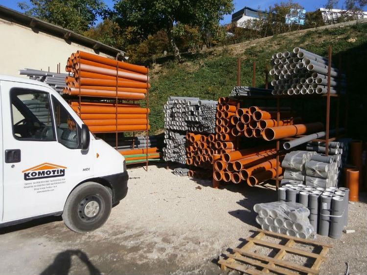 Centar za gradnju Komotin - Prodaja kompletnog građevinskog materijala