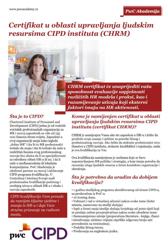 Kvalifikacija-CHRM certifikat