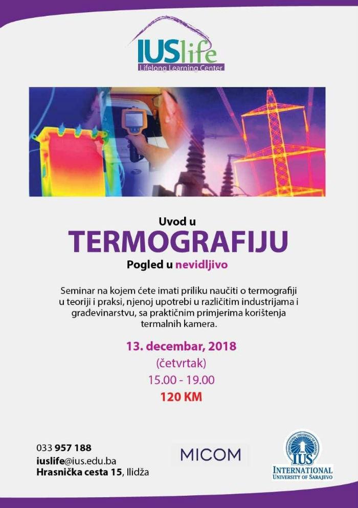 Seminar: Uvod u termografiju - pogled u nevidljivo