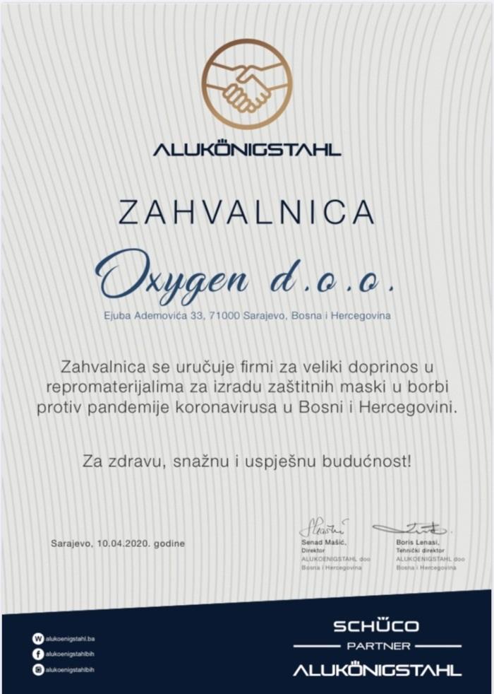 Oxygen proizvodi zaštitine pregrade od pleksiglasa