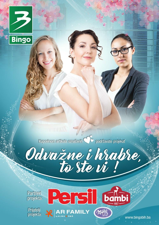 Novi projekat kompanije Bingo i patnera: 'Odvažne i hrabre, to ste vi!'