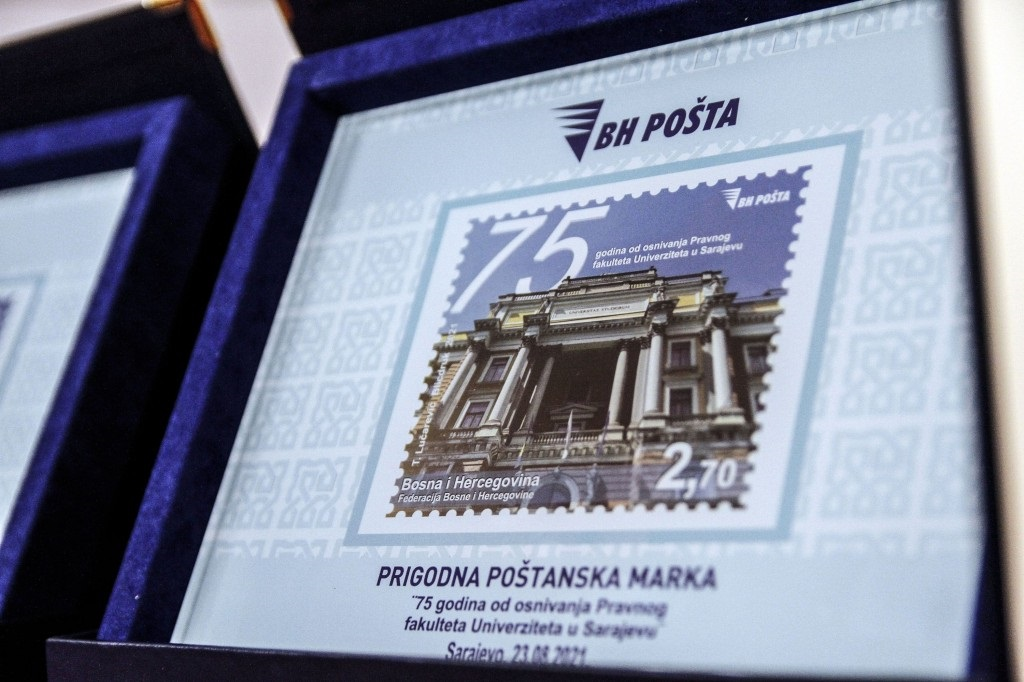 Promovirana poštanska marka posvećena Pravnom fakultetu UNSA