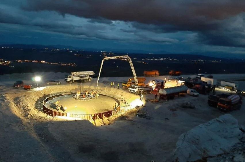 Betoniran prvi temelj za vjetroelektranu Podveležje (Foto)