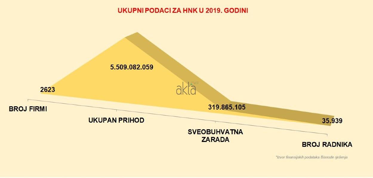 TOP 20 kompanija u HNK po prihodu, dobiti i broju radnika