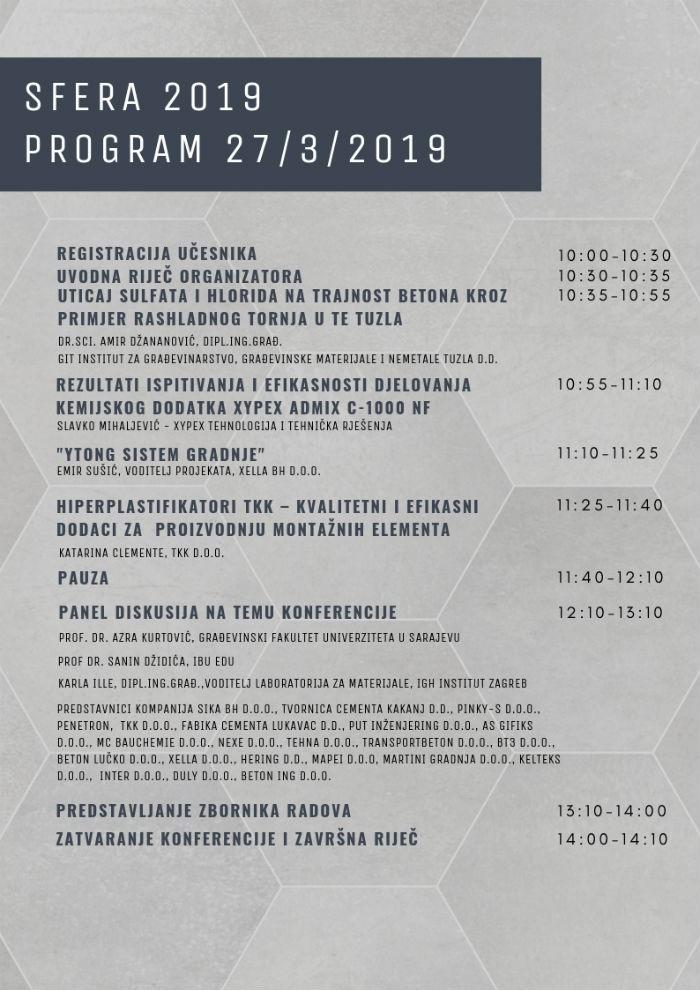 Sve spremno za naučno stručnu konferenciju Sfera 2019: Tehnologija betona