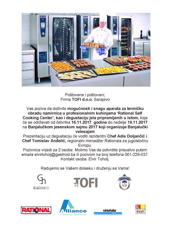 Prezentacija kuhinja Rational SeIf Cooking Center na Banjalučkom velesajmu