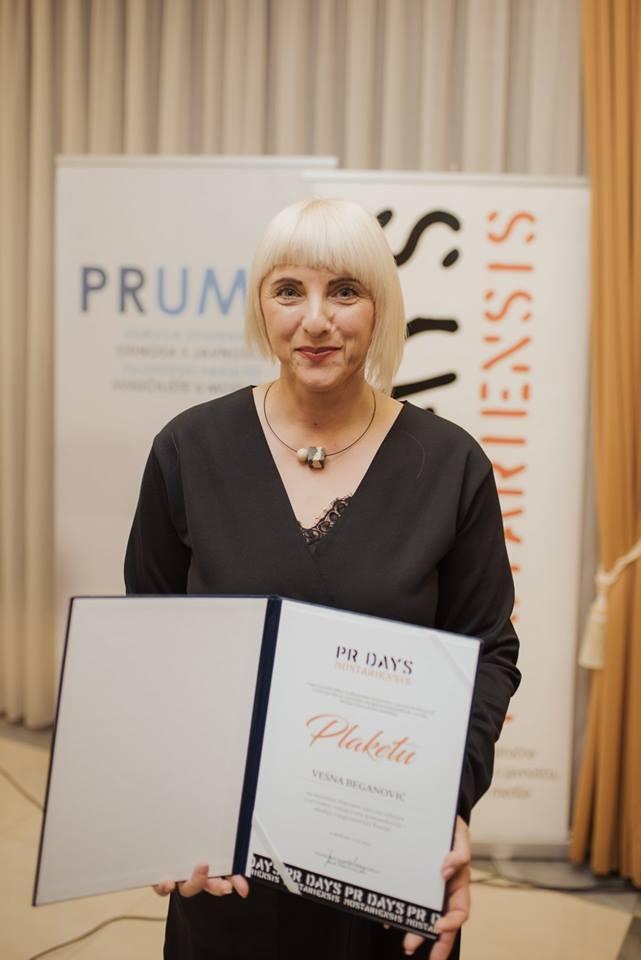 Vesna Beganović dobitnica priznanja PR Days Mostariensis