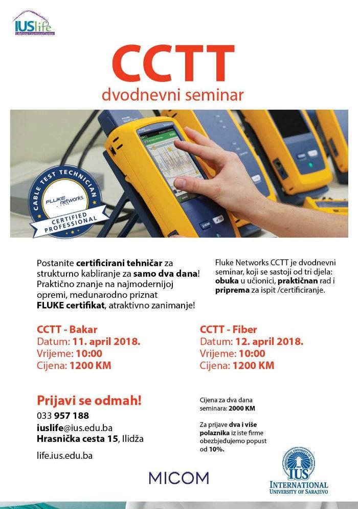 IUS LIFE i Micom d.o.o. organizuju dvodnevni CCTT seminar