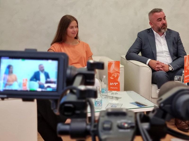 Evropska šampionka Lana Pudar posjetila BH Telecom
