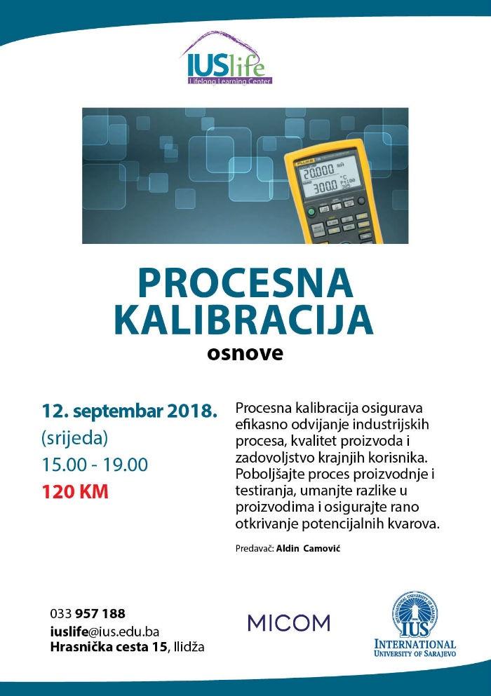 Seminar: Procesna kalibracija