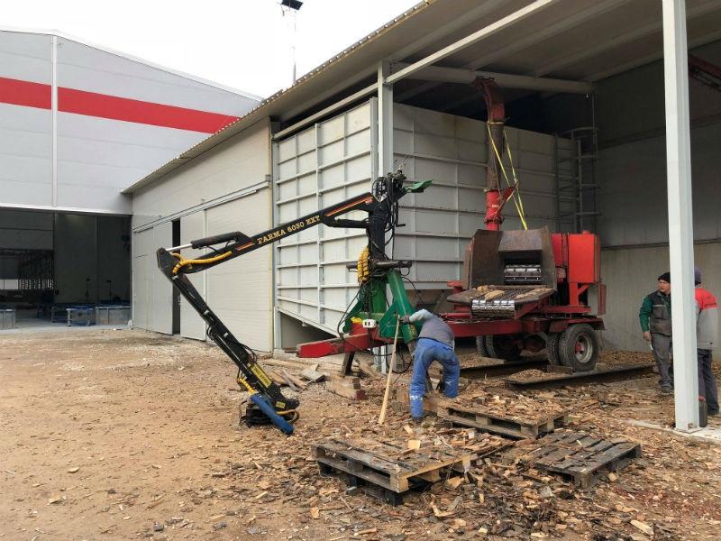 Dva kotla na drvenu sječku 'Ecochip 300' griju pogon firme Metaling