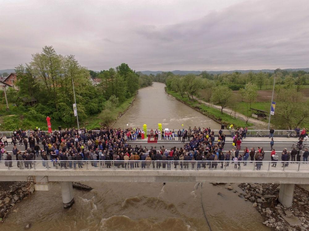 Svečano pušten u promet most na rijeci Usori, vrijednosti 1,5 miliona KM