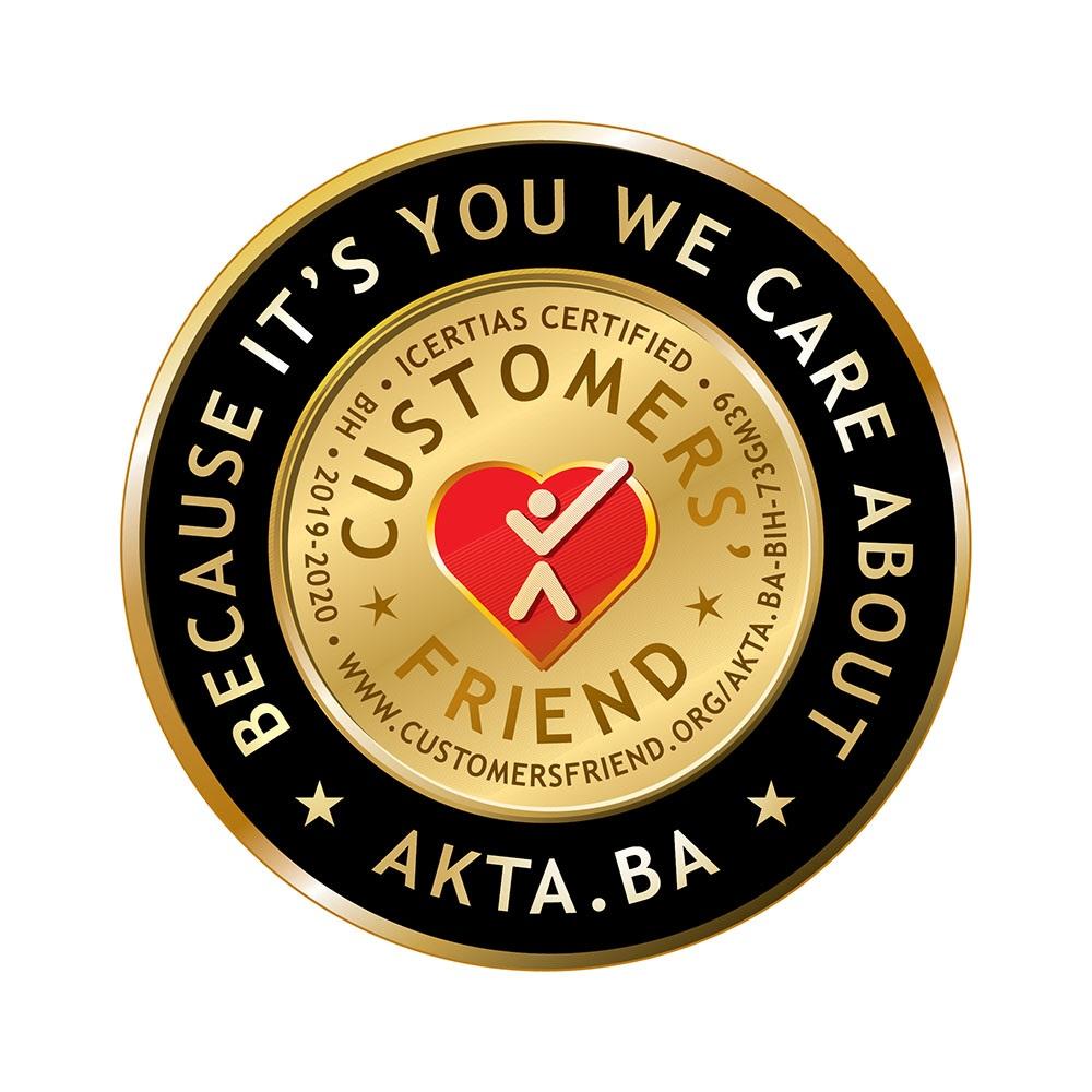 Akta.ba nosilac certifikata Customers' Friend – Vrhunska izvrsnost