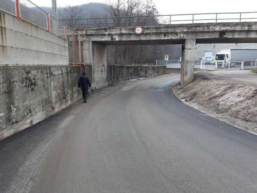 Saniran put prema Industrijskoj zoni Boce