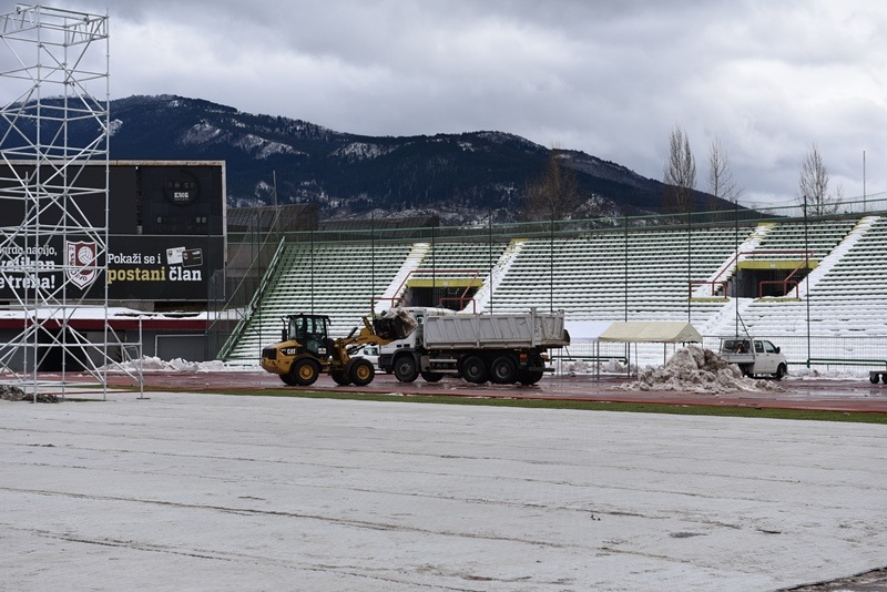 Završne pripreme na uređenju stadiona na Koševu pred EYOF