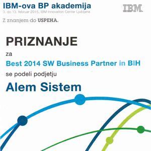 ALEM Sistem dobio prestižno priznanje za najboljeg IBM partnera u BiH