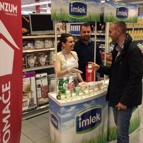 Interes za proizvodima Mlijekoprodukta, ali i ostalih izlagača, bio je veliki, a Konzum će i u budućnosti nastaviti pružati podršku proizvođačima iz BiH.