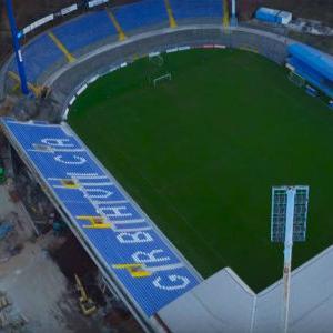 Završeni radovi na istočnoj strani stadiona Grbavica