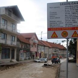 U Tomislavgradu u toku radovi u središnjoj gradskoj ulici