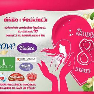 U povodu 8. marta, prekrasnog praznika kada su dame u fokusu, u kompaniji Bingo organizuje se niz aktivnosti, ali i društveno odgovornih kampanja.