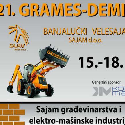 21. Međunarodni sajam građevinarstva i elektro-mašinske industrije i inovacije biće održan od 15. do 18. marta na Banjalučkom velesajmu.