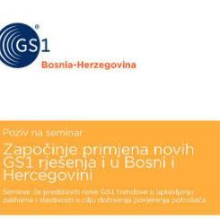 Započinje primjena novih GS1 rješenja i u Bosni i Hercegovini