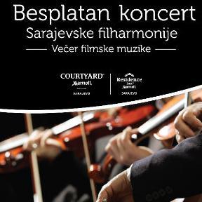 Besplatan koncert filmske muzike Sarajevske filharmonije